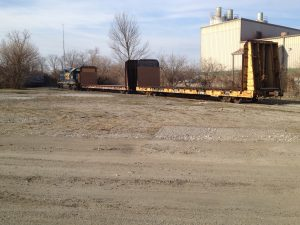 CSX removing empty rail cars at the Indianapolis Industrial Center.