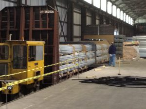 Indoor Rail Reload Siding at the Indianapolis Industrial Center