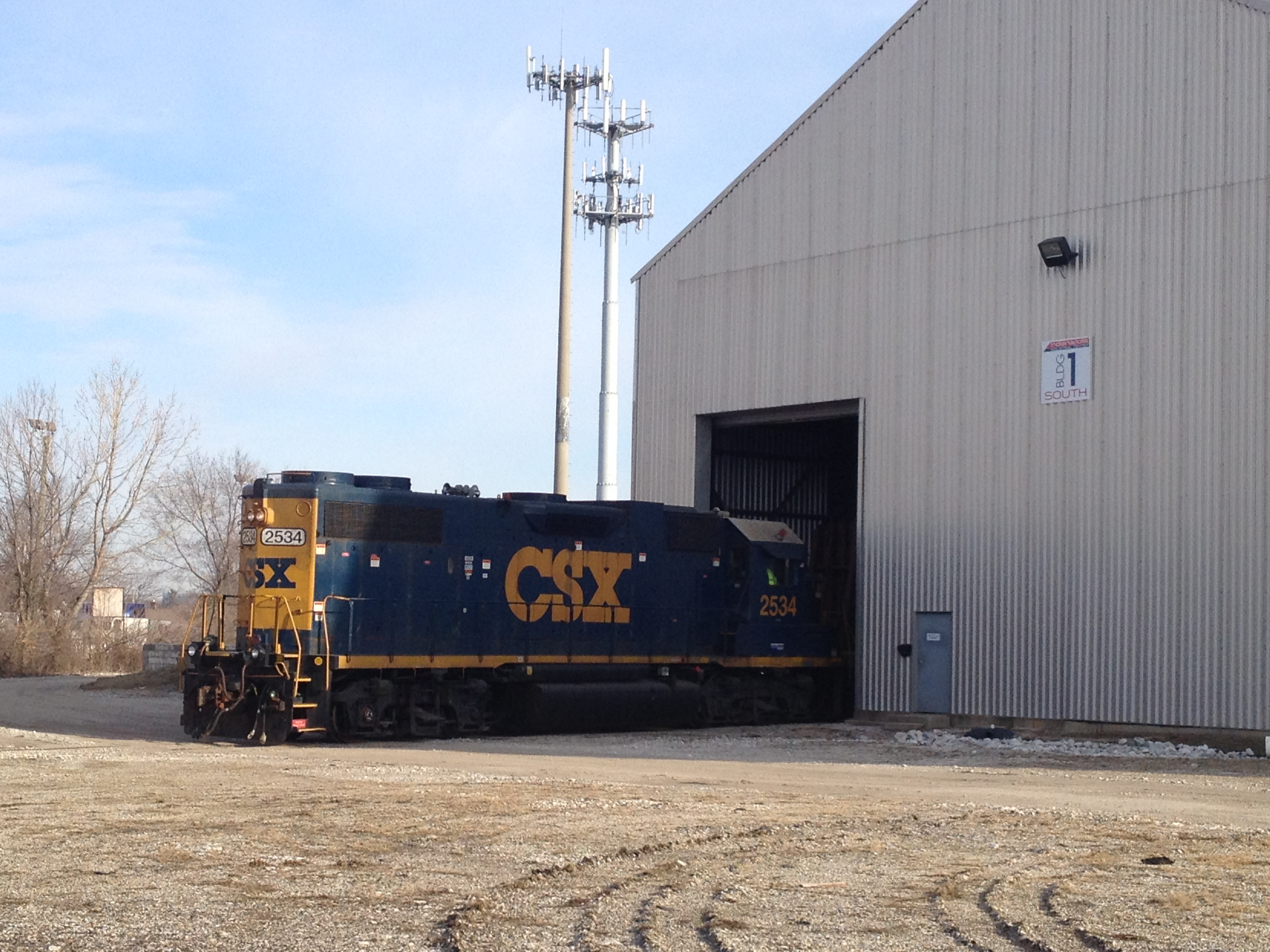 CSX Providing Service to Indoor Siding in Building 1 at the Indianapolis Industrial Center